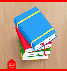 Top view of books vector