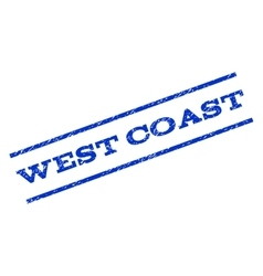 West coast watermark stamp vector