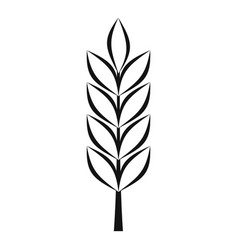 Wheat spike icon simple style vector