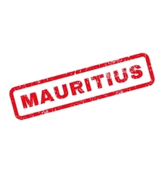 Mauritius text rubber stamp vector