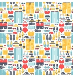 Summertime accessories seamless pattern vector