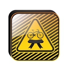 Bicycle in square icon vector