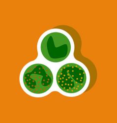 Paper sticker on stylish background leukocyte vector