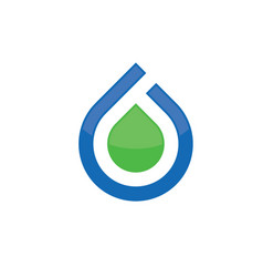 Abstract water drop logo vector