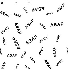 Asap hand drawn lettering seamless pattern vector