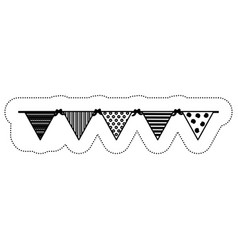 Decorative pennants icon vector