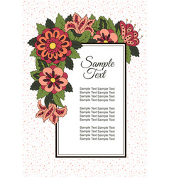 Holiday card with spring flowers background for vector