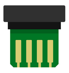 Electronic circuit board icon isolated vector