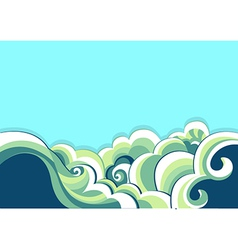 Blue sea and nature background vector image