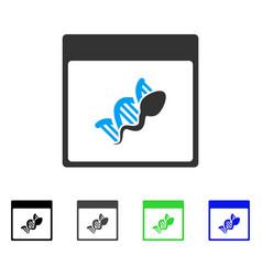 Sperm dna replication calendar page flat icon vector
