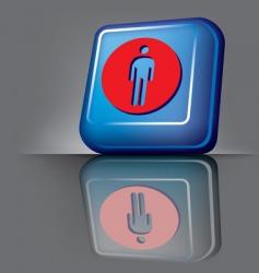 man button vector image