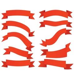 Ribbon banners labels set vector
