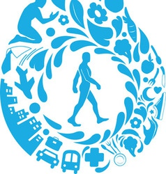 Healthy life silhouette vector
