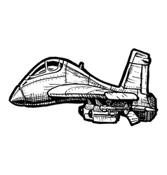 Fighter aircraft in comics style vector