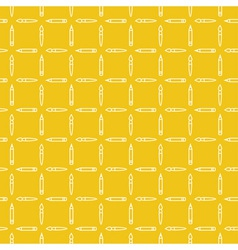Linear art tools flat yellow seamless pattern vector image