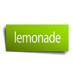 Lemonade green paper sign on white background vector
