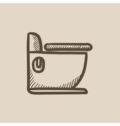 Toilet sketch icon vector