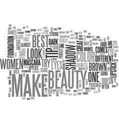 Beauty make up text word cloud concept vector