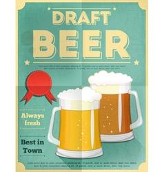 beer draft poster vector image