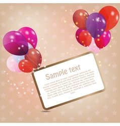 birthday card with colored ballons vector image