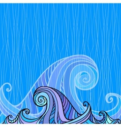 Blue and violet waves background vector image