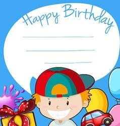 Border design with happy birthday theme vector