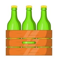 Box of beer icon cartoon style vector image vector image