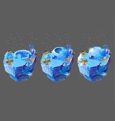 Cartoon blue ice house for game design vector