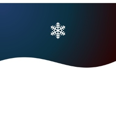 Christmas Abstract Background with Snowflake vector image