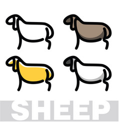 color drawing of sheep or ram vector image