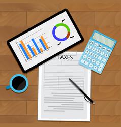 Consider taxes concept vector