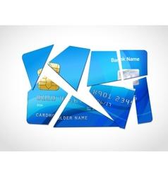 Debt bankruptcy symbol vector image