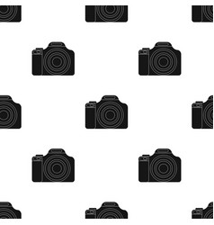 Digital camera icon in black style isolated on vector