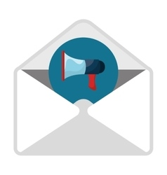 Email with advertising content icon vector