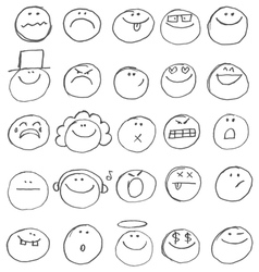 emoticon doodles vector image vector image
