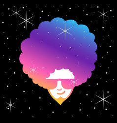 Funky frizzy vector