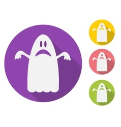 Ghost flat vector image
