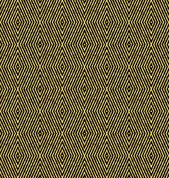 Golden seamless rhombuses pattern vector image vector image