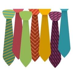 Isolated necktie design vector