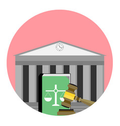 Jurisdiction institute icon vector