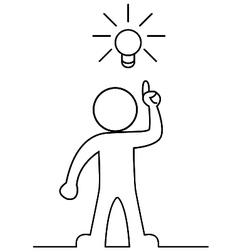 Man with a light bulb vector image vector image