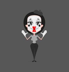 Mime girl design vector