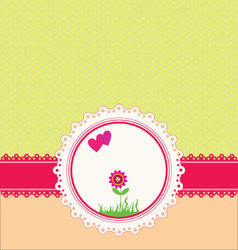 Pastel greeting card vector image