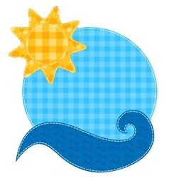 Patchwork sun and wave vector image