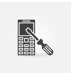 Phone repair simple icon vector
