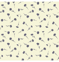 Seamless floral pattern with small wild flowers vector image vector image