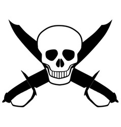 skull and cutlasses vector image
