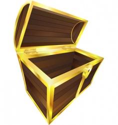 wooden treasure vector image vector image