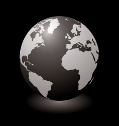world black glow vector image vector image