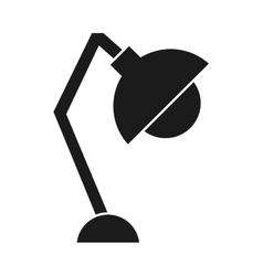 Lamp office silhouette icon vector